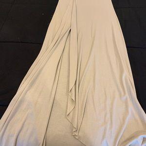 BCBG woman's beige maxi skirt